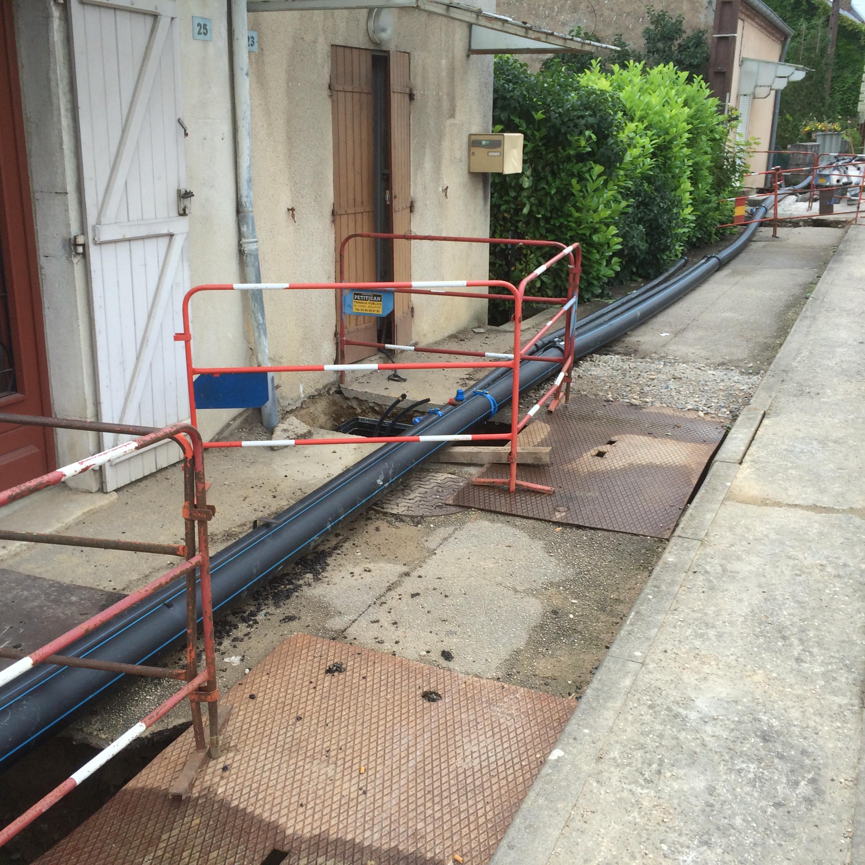 (provisoire pour maintiens de la distribution d'eau pendant les travaux) - Syndicat d'eau de BLETTERANS